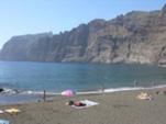 Пляж у вулкана острова